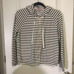 NWT Juicy Couture navy stripe jacket/shorts set